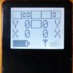 displej vysílače Flex 2JX